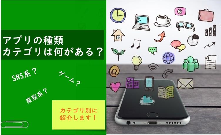 SNS、業務系、ゲーム、地図…アプリ分野の種類について解説