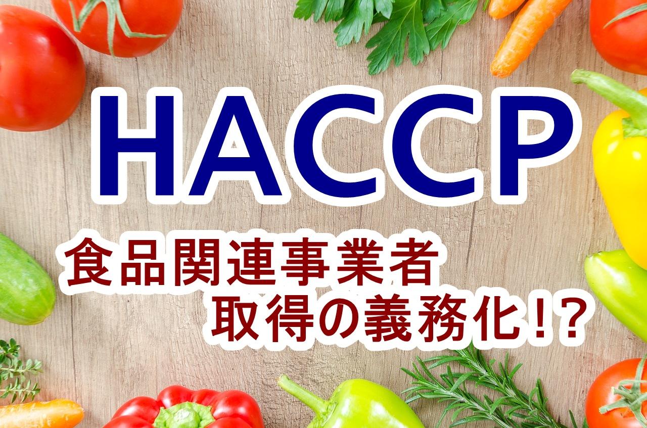 簡単にHACCPとは?2020年から食品関連事業者に取得が義務化
