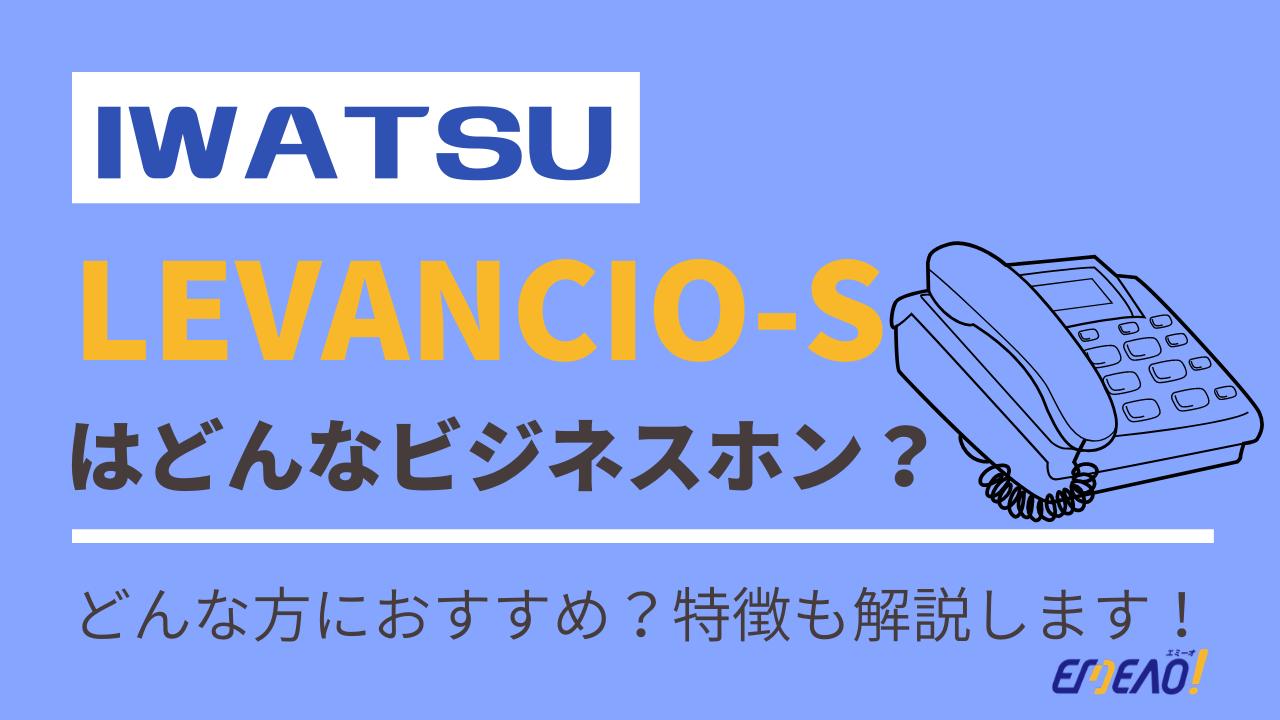 50ead0973388ce4ff7a5ec7d8efb1cc2 - IWATSUのビジネスホン「LEVANCIO-S」はどんな機種?