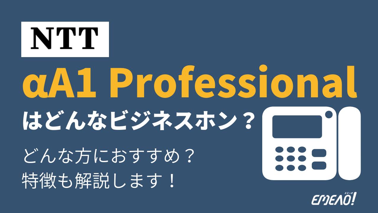 b8d080020cd75b7226ca6d821bb1bb55 - NTTのαA1 Professionalはどんなビジネスホン?