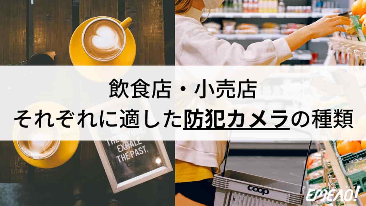 飲食店と小売店、業種別おすすめの防犯カメラのタイプについて解説